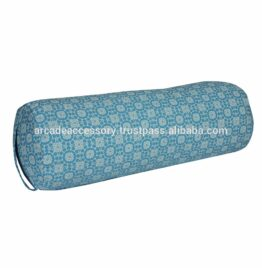 Factory rate sell customized pattern high quality cotton cylindrical yoga bolster Indian manufacturer
